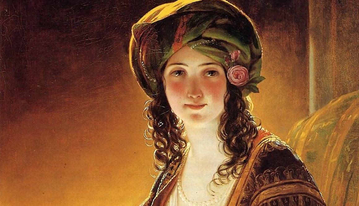 Friedrich von Amerling orientalwoman hst 94 5x31 1 pc th 2